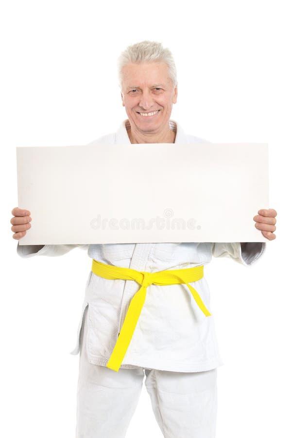 Karate Hogere mens stock afbeelding