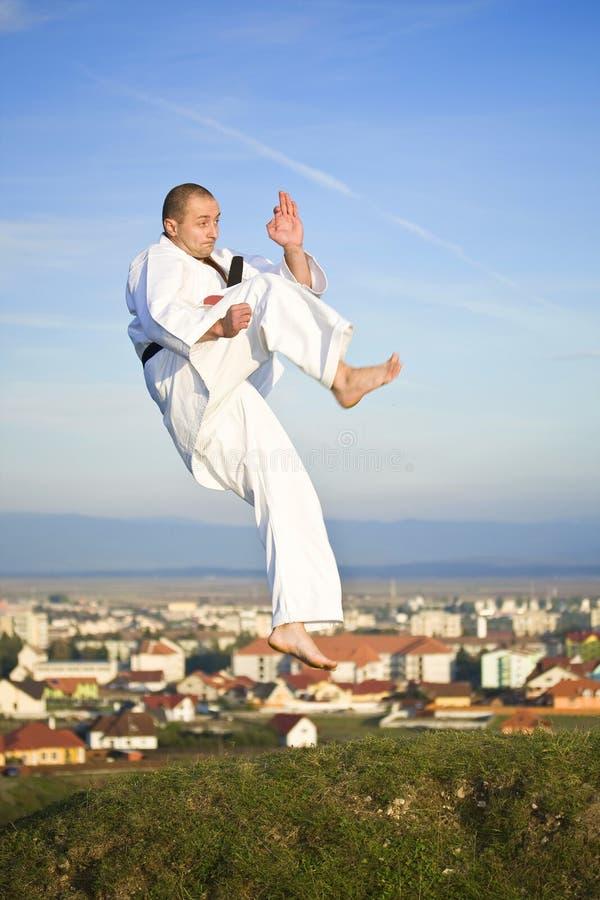Karate im Freien lizenzfreies stockfoto