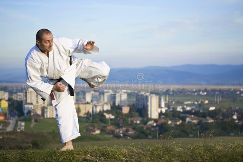 Karate im Freien lizenzfreie stockfotos