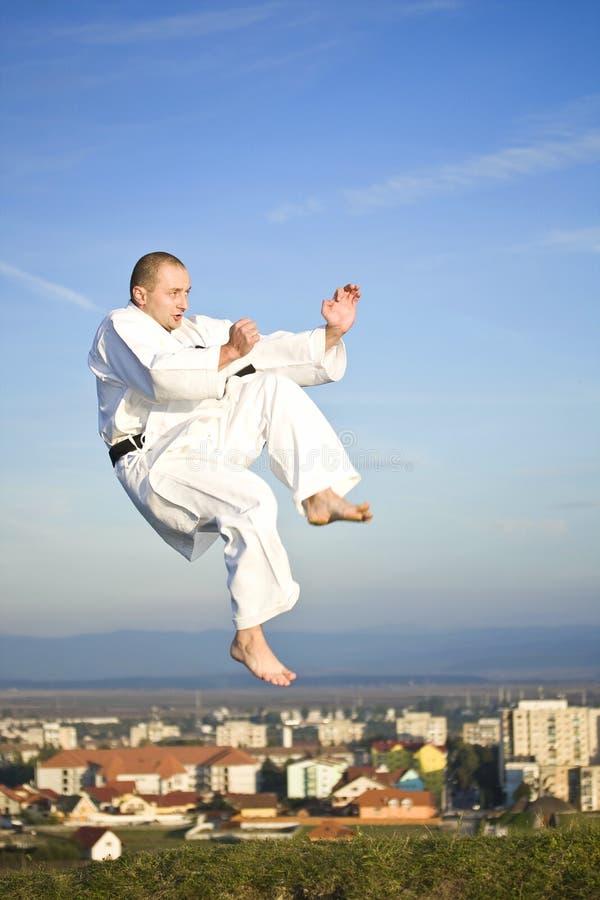 Karate im Freien stockfotografie