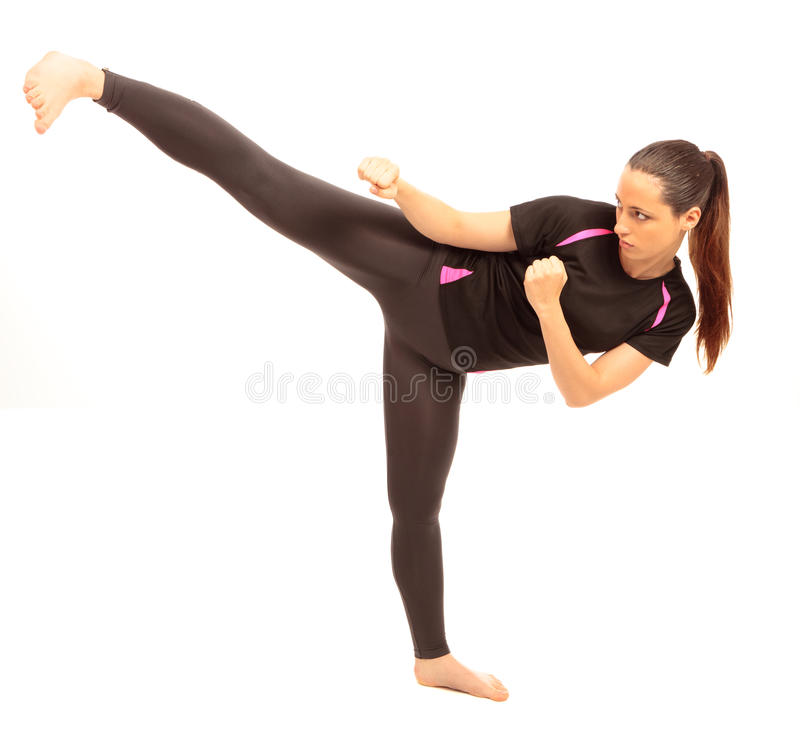 Karate Kick stock photography