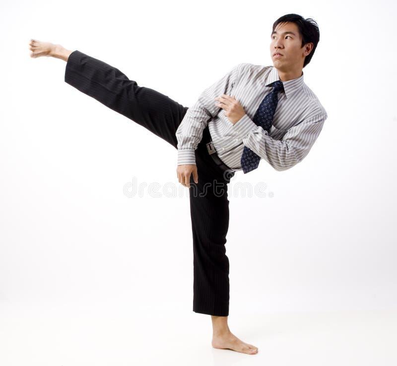 Karate Kick royalty free stock image