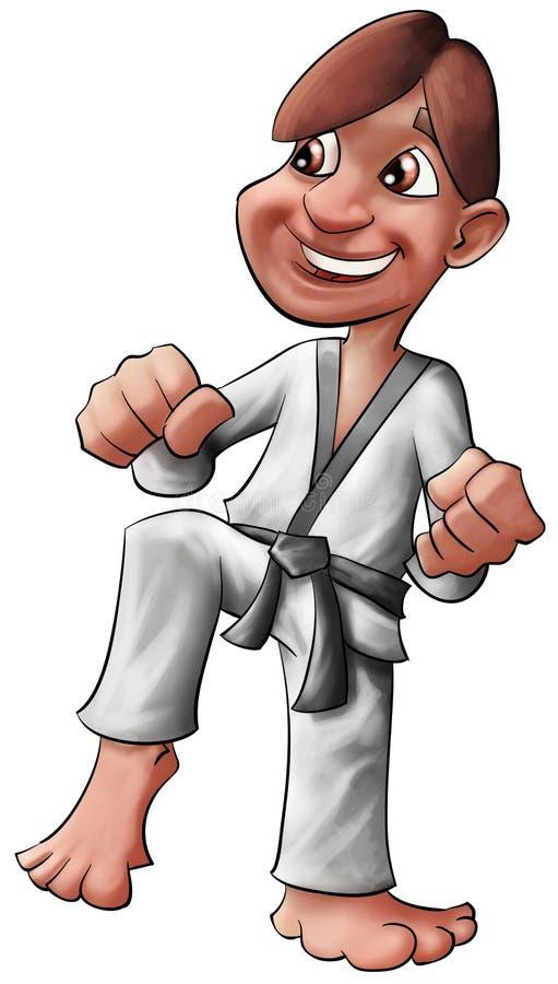 Karate kid vector illustration