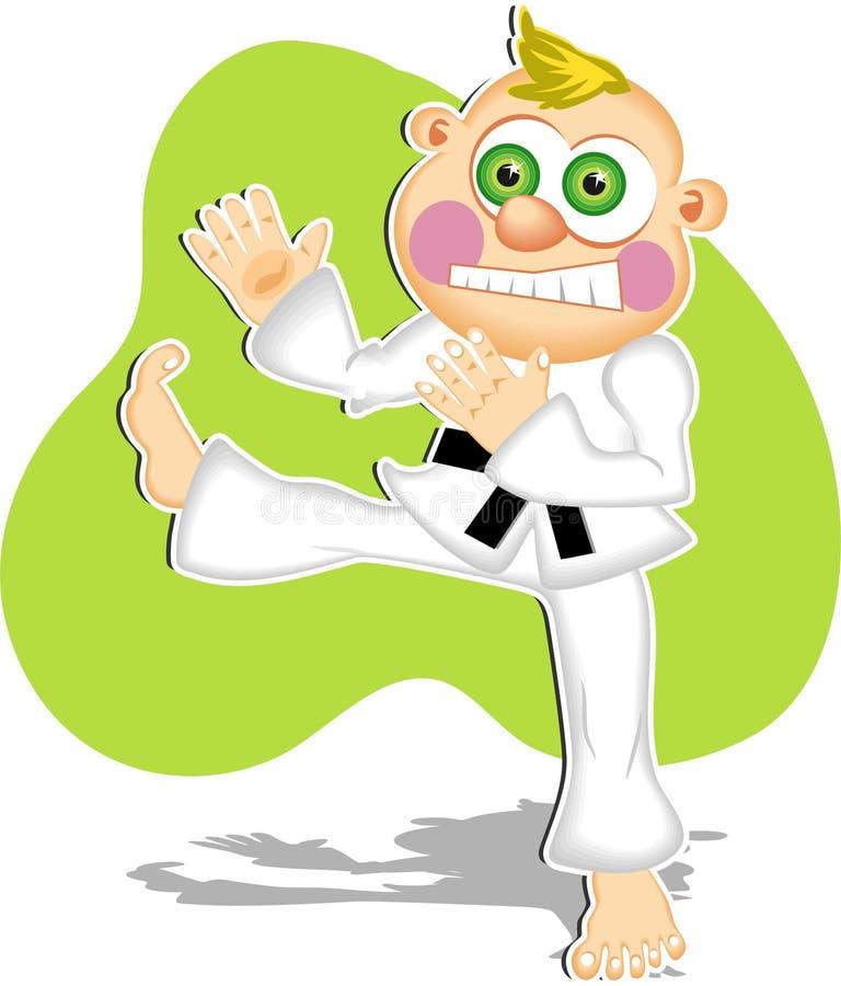 Download Karate Kid illustrazione vettoriale. Illustrazione di ragazzo - 43779