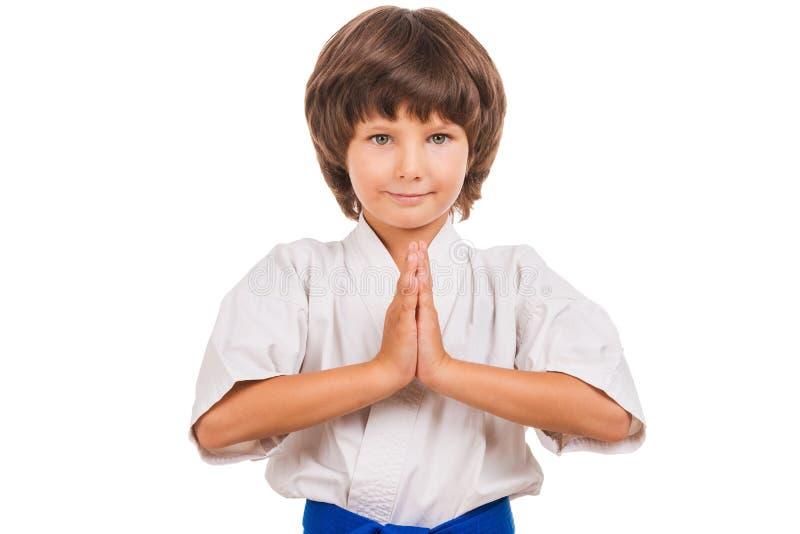 Karate Kid royalty-vrije stock afbeelding