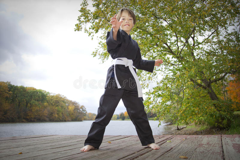 Karate Kid fotografia de stock royalty free