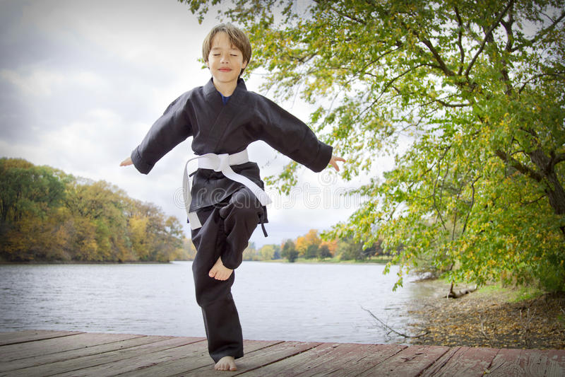 Karate Kid fotografie stock libere da diritti
