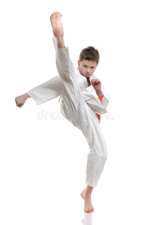 Karate Kid Kick Karate Kid stock image...