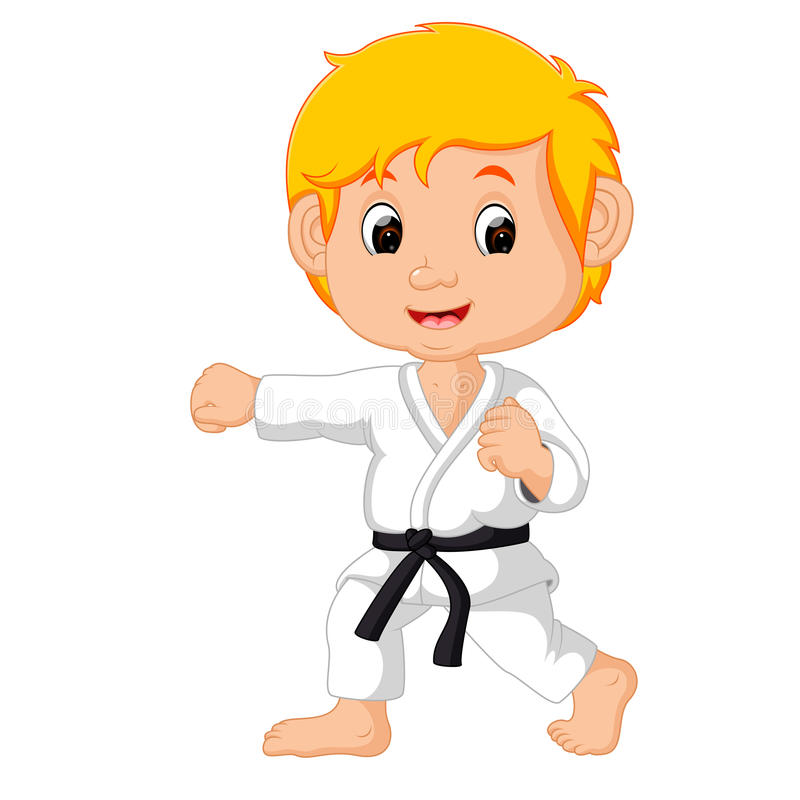 Karate Kid illustration stock