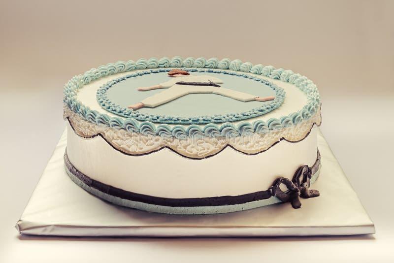 Karate Kid Cake stock image Image of white happiness 38781513