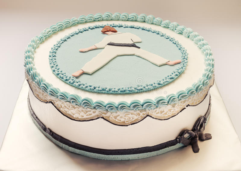 Karate Kid Cake stock photo Image of decor blue decorated 38781634