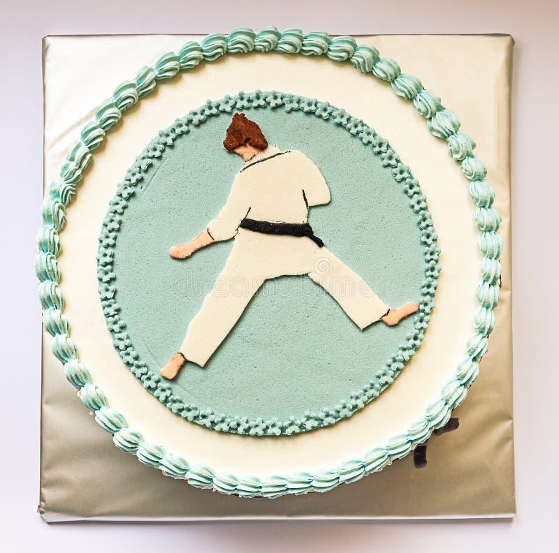 Karate Kid Cake stock photo Image of blue karate sweet 38781804
