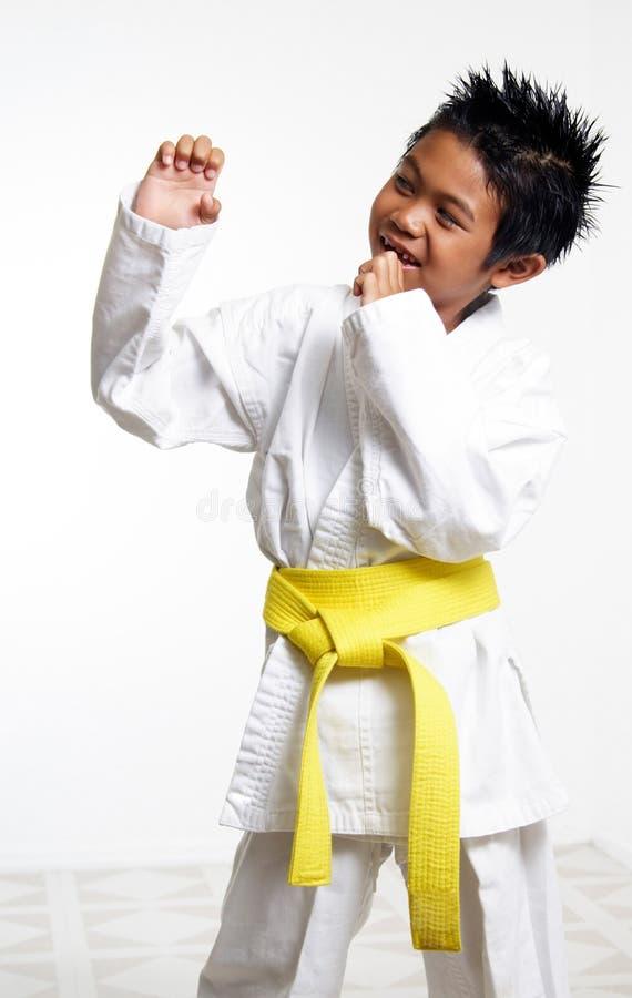 Karate Kid feliz imagem de stock