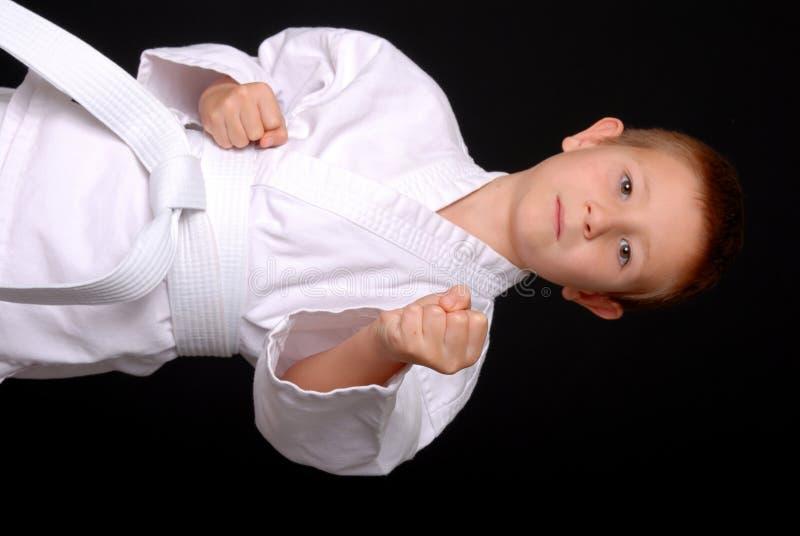 Karate Kid - foco no punho imagens de stock