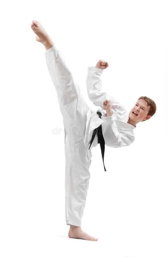 karate kopnięcie zdjęcia stock