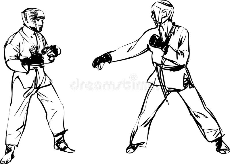 Download Karate Kyokushinkai  Martial Arts  Sports Stock Vector - Image: 21884623