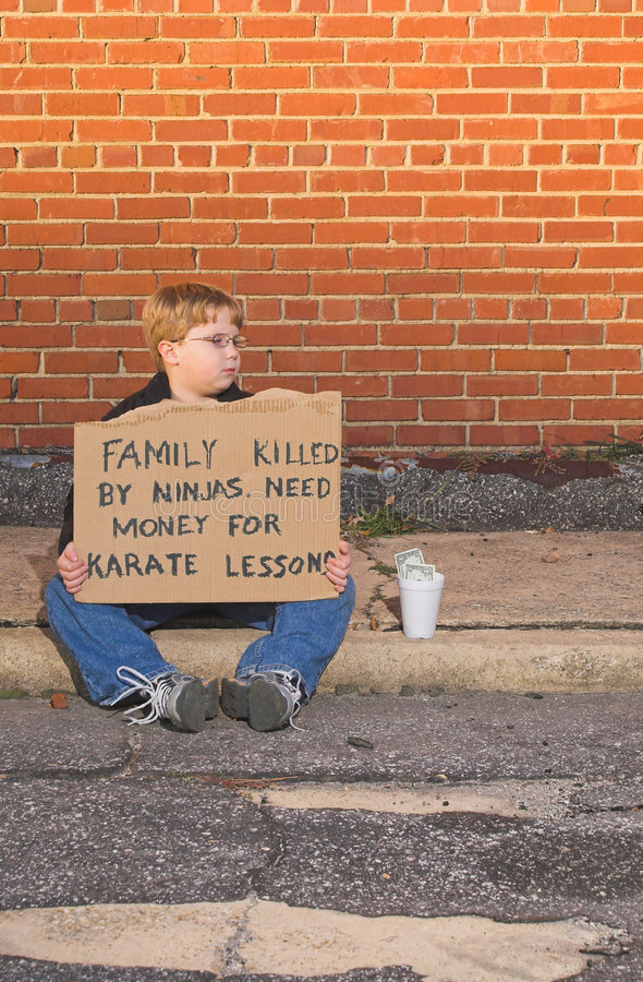 Karate Lessons royalty free stock image