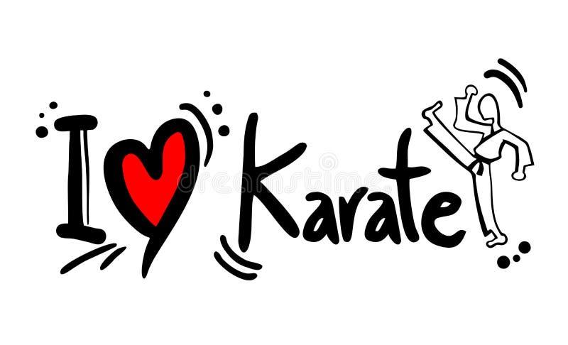 Karate love. Creative design of karate love stock illustration