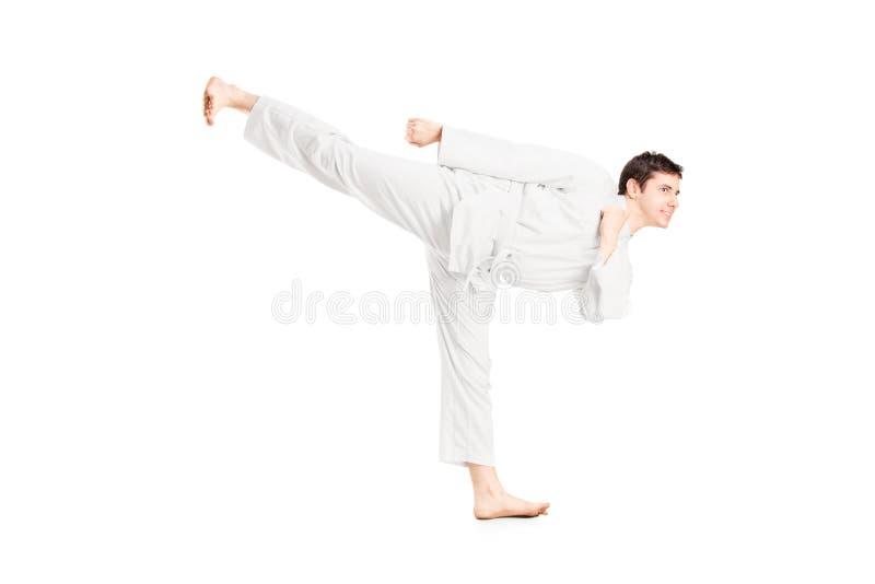 Download A karate man exercising stock image. Image of fight, kicking - 28944527