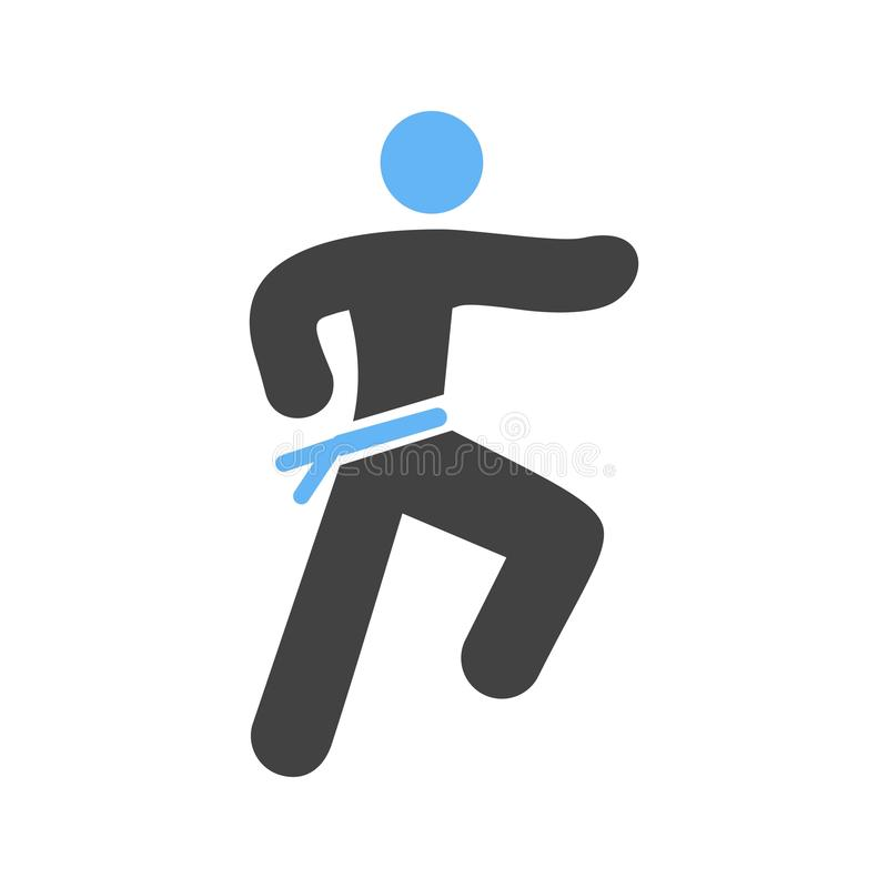 Karate. Martial, uniform icon vector image. Can also be used for people. Suitable for web apps, mobile apps and print media vector illustration