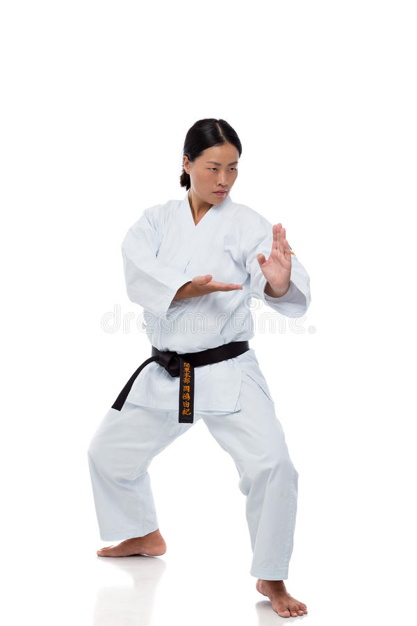 Karate master stock image