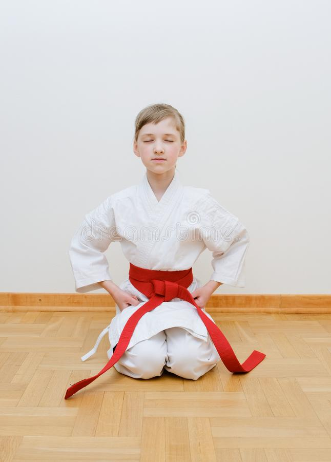 Karate opleiding stock afbeelding