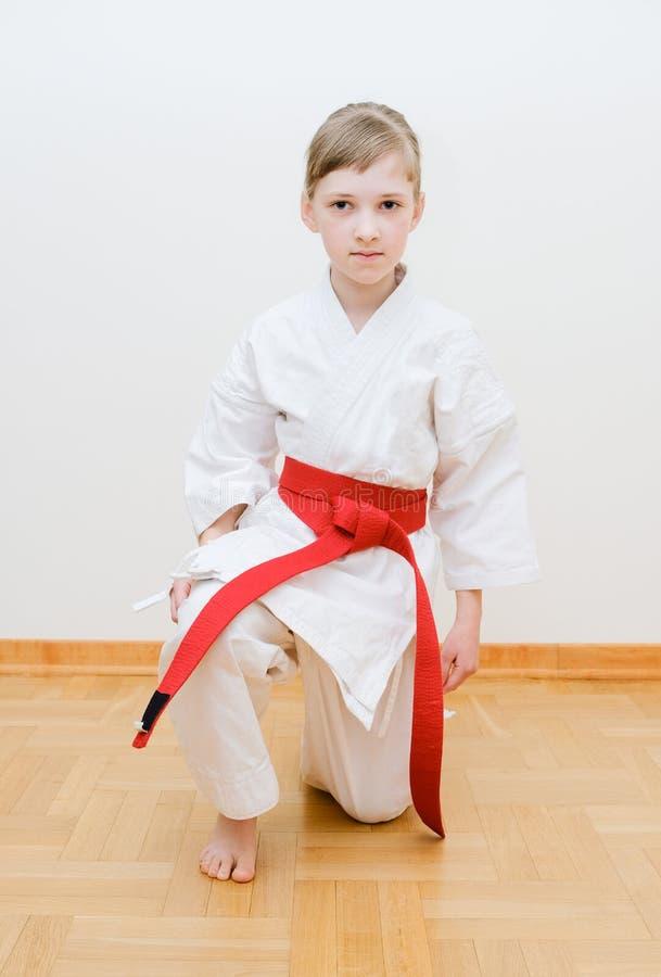 Karate opleiding stock foto's