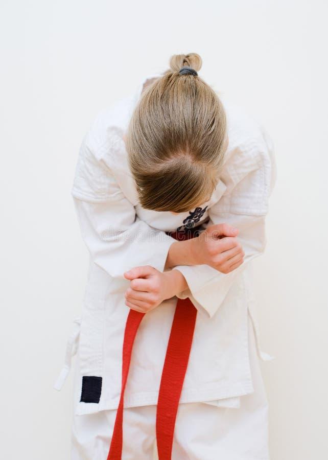 Karate opleiding royalty-vrije stock afbeelding