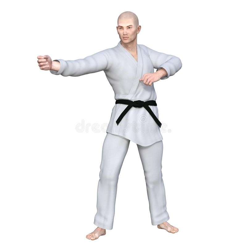 Karate player stock photography