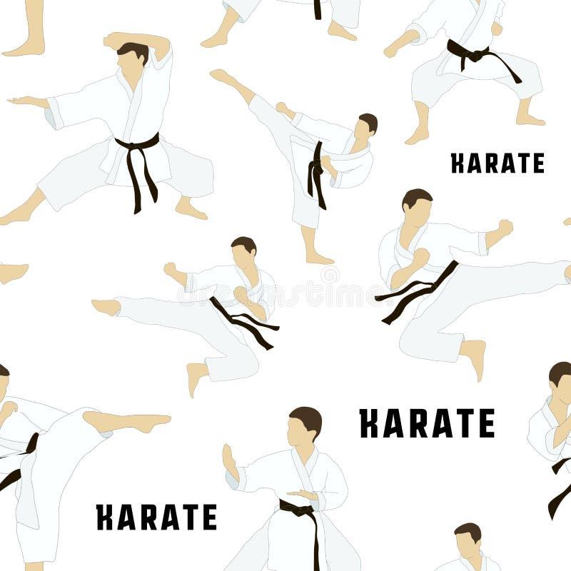 Karate set pattern. Applicable to Karate and Taekwondo stock illustration