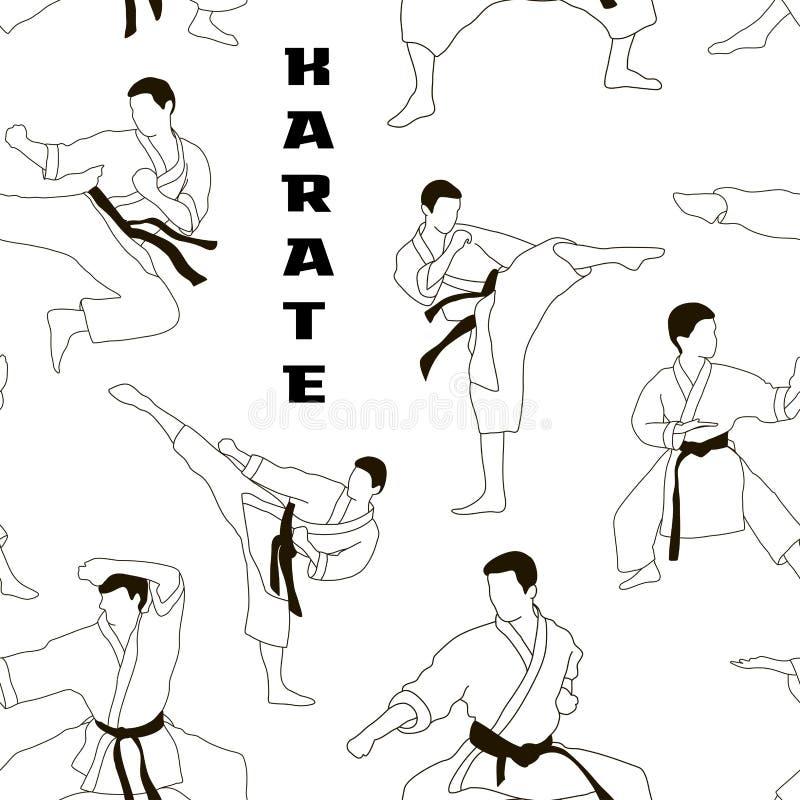 Karate setu wzór royalty ilustracja