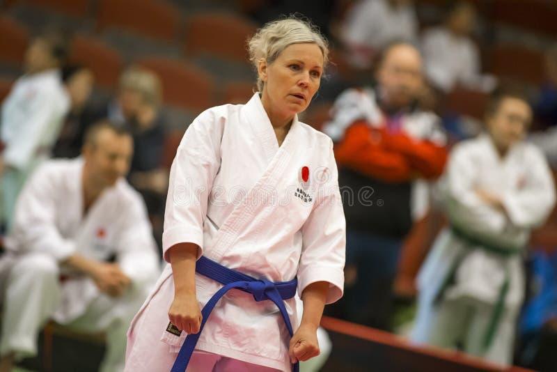 Karate Shotokan Kata Tournament royaltyfria foton