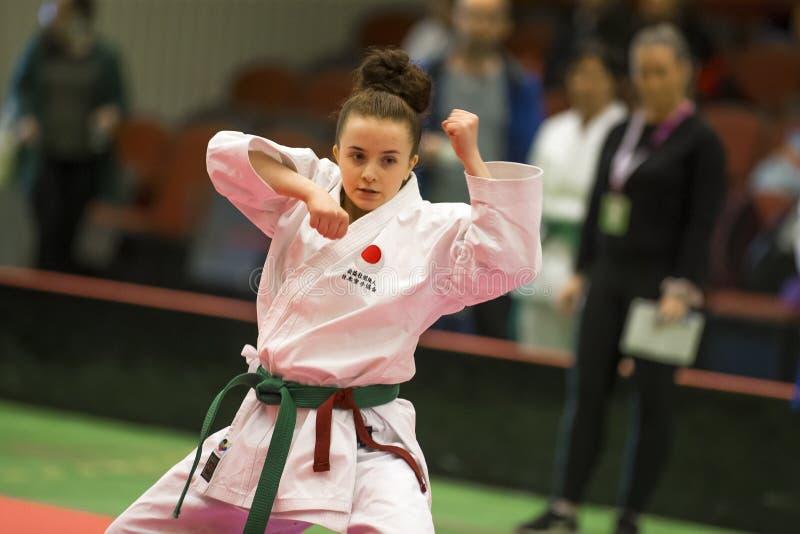 Karate Shotokan Kata Tournament royaltyfri fotografi