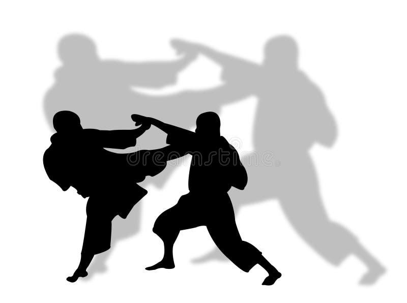 karate sport ilustracji