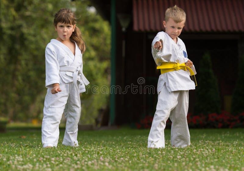 Karate sztuki samoobrony obrazy stock