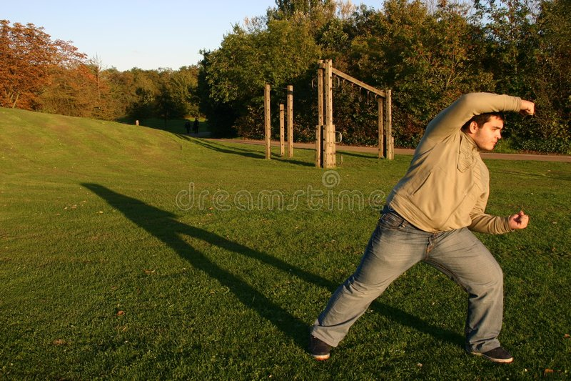 Karate training stock photography