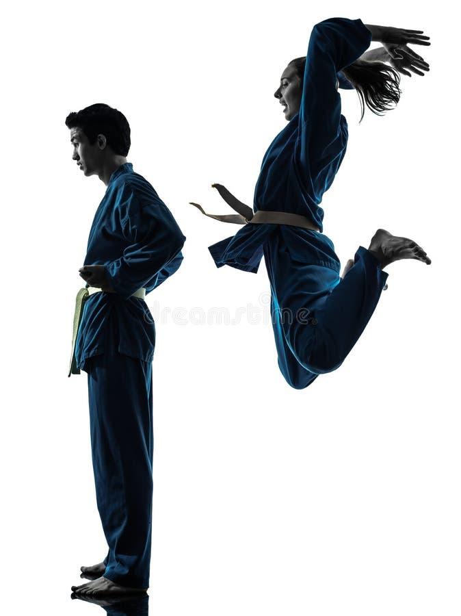 Download Karate Vietvodao Martial Arts Man Woman Silhouette Stock Photo - Image: 28000758