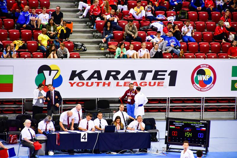 Karate 1 - Youth League Sofia 2018, May 25-27 royalty free stock images