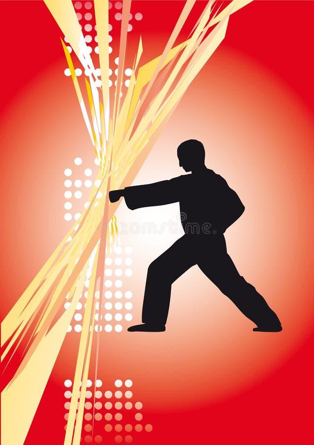 Download Karate1a stock vector. Image of combat, china, defense - 5968640