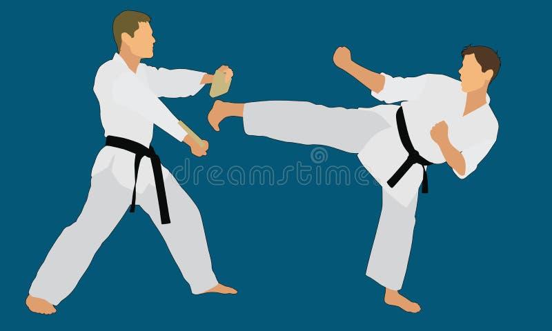 Karatebrädeavbrott stock illustrationer