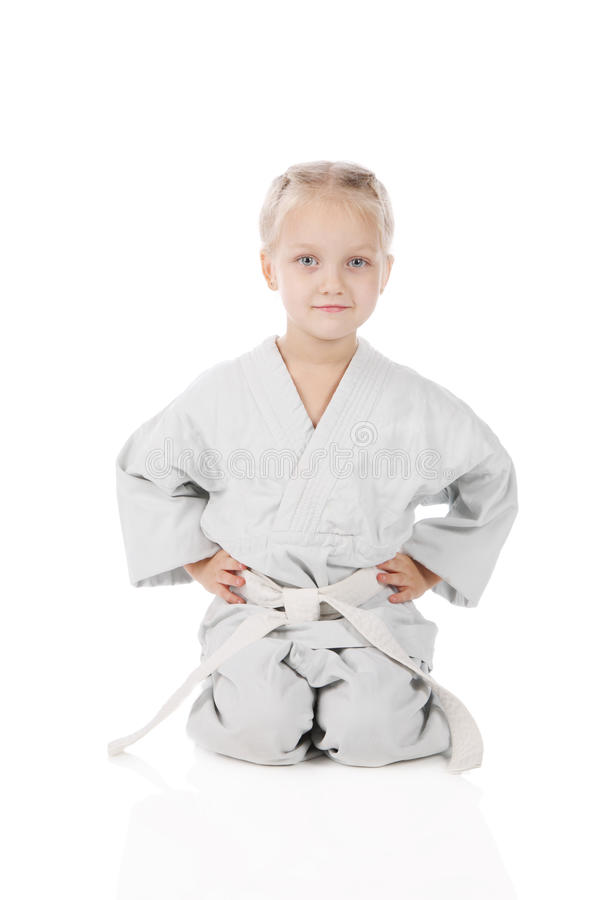 karateka κοριτσιών στοκ φωτογραφίες