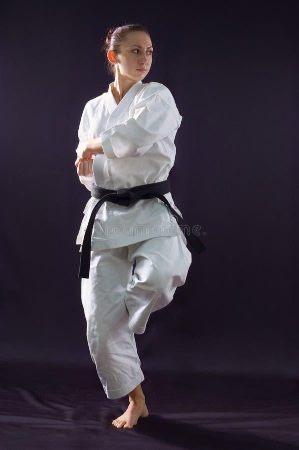 Karateka Mädchen lizenzfreie stockfotografie