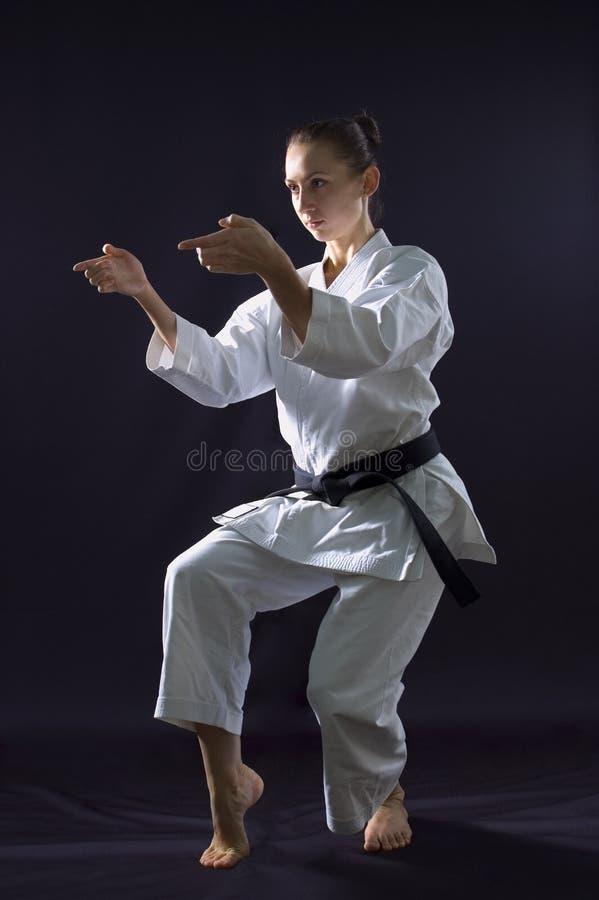 Karateka Mädchen stockbild