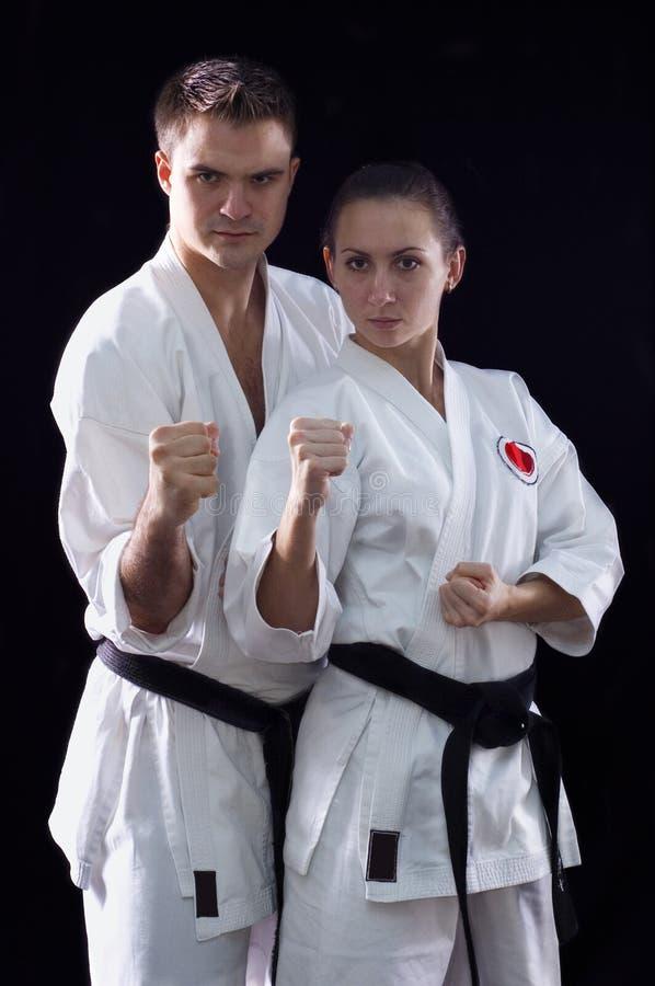 Karateka Paare stockfotografie