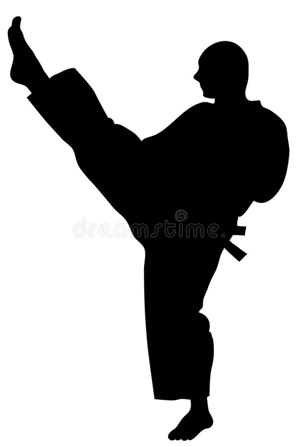 karatekick stock illustrationer
