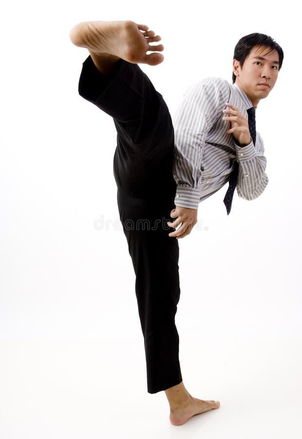 KarateKick royaltyfria foton