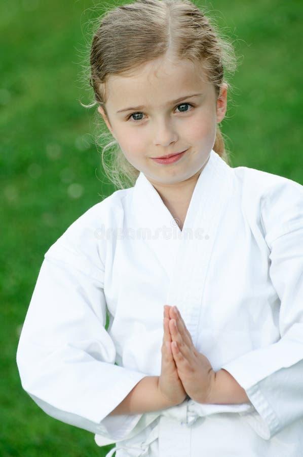 Karatekind stockfotografie