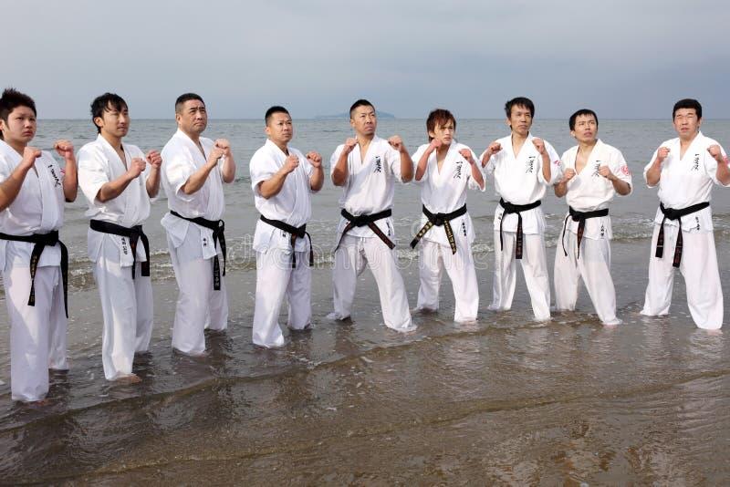 Karatemänner lizenzfreie stockfotografie