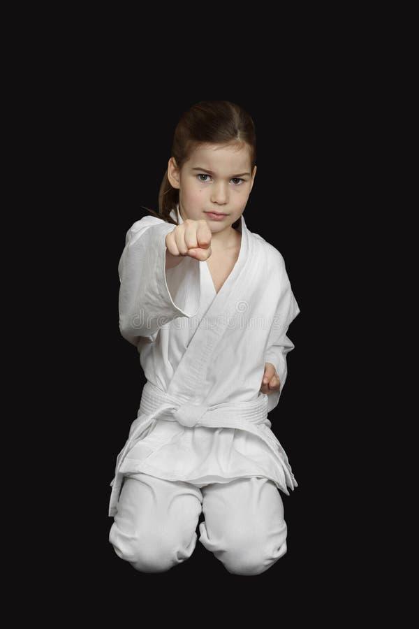Karatemeisje stock fotografie