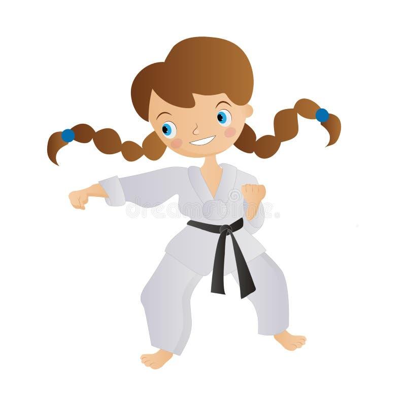 Karatemeisje vector illustratie